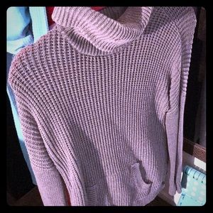 Grey casual turtle neck sweater